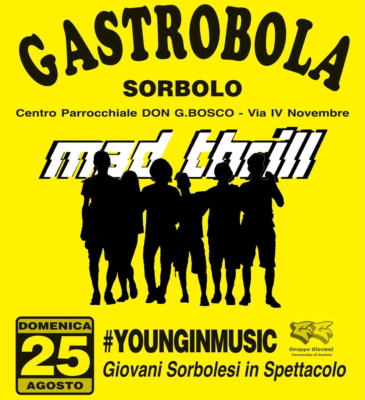 Live @ Young in Music, Gastrobola 2019 - domenica 25 agosto 2019 ore 20.00
