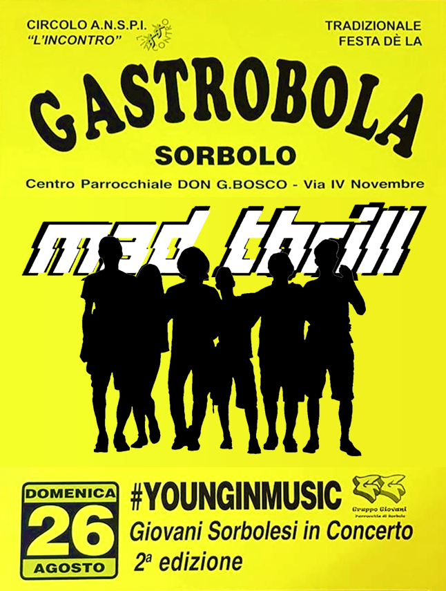 Gastrobola - Young in Music - Concerto - 26 agosto 2018